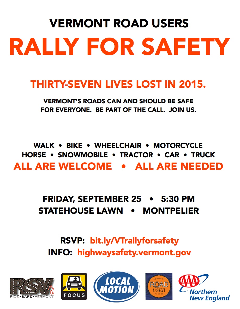 rally for safety -- handbill screenshot